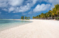 Beautifull tropical beach in belle mare mauritius Stock Photos