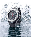 Beautifull watch standing on water Royalty Free Stock Photo