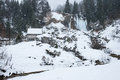 Beautifull winter landscape carpathian mountains aries mountain scene scene in romanian carpathians Royalty Free Stock Image
