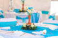 Beautifully decorated banquet table a Stock Image
