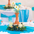 Beautifully decorated banquet table a Royalty Free Stock Image