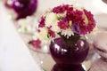 Beautifully decorated wedding table arrangement Royalty Free Stock Photo