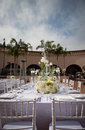 Beautifully decorated wedding venue image of a Royalty Free Stock Photo