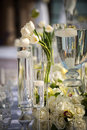 Beautifully decorated wedding venue image of a Stock Photos
