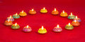 Beautifully lit lamps for the diwali festival hindu Royalty Free Stock Photo