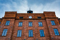 Beautifully renovated facade of an old textile factory lodz poland Stock Photography