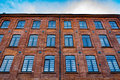 Beautifully renovated facade of an old textile factory lodz poland Royalty Free Stock Photography