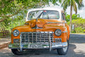 Beautifully restored old classic dodge car in havana cuba – april these antique cars are a common sight cuba and have Royalty Free Stock Image