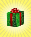 Beautifuly wrapped gift Stock Photo