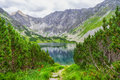 Beautitul summer landscpae in High Tatras mountains, Slovakia