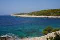 Beautiul beach in croatia beautiful landscape at the seaside Stock Image