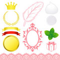 Beauty advertisement icons Stock Images