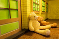 Beauty bear doll in clean house Royalty Free Stock Photo