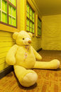 Beauty bear doll in clean house Stock Photo
