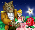 Beauty and the Beast Royalty Free Stock Photo