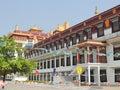Beauty of bhutan fascinating buddhist temple symbol peace Stock Photography