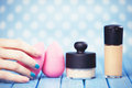 Beauty blender. Royalty Free Stock Photo