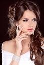 Beauty Bride. Beautiful Brunet...