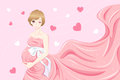 Beauty cartoon pregnant women