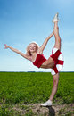 Beauty cheerleader Royalty Free Stock Image