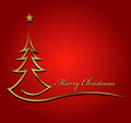 Beauty christmas tree background illustration of Royalty Free Stock Photos