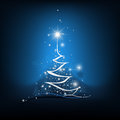 Beauty christmas tree from light background illustration of Stock Photography