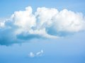 Beauty cloud in a bluesky Royalty Free Stock Image