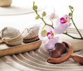 Beauty concept for zen exfoliation Stock Images