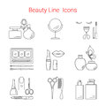 Beauty, Cosmetic and Makeup Vector line icons