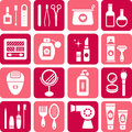 Beauty and cosmetics icons Royalty Free Stock Photography