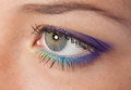 Beauty eye beautiful female with makeup close up Stock Photo