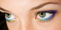 Beauty eyes beautiful female eye with makeup close up Stock Photos