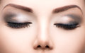 Beauty eyes makeup closeup Royalty Free Stock Photo