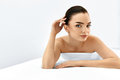 Beauty Face. Portrait Woman With Clean Skin. Skin Care Concept.