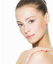 Beauty face of an young woman with clean skin Stock Image
