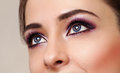 Beauty girl eyes with perfect bright makeup Stock Photo