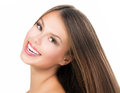 Beauty girl face beautiful teenage model portrait Stock Photography