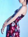 Beauty Girl in flower dress Royalty Free Stock Photo
