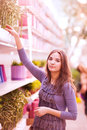 Beauty girl shoping Royalty Free Stock Photo