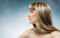 Beauty hair woman with long Royalty Free Stock Photo