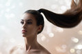 Beauty hair woman with long Royalty Free Stock Photos