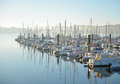 Beauty Harbor Yacht Club with glaz Royalty Free Stock Photo