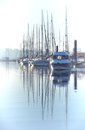 Beauty Harbor Yacht Club with glazed clear sea Royalty Free Stock Photo
