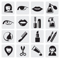 Beauty icons Royalty Free Stock Photo