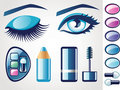 Beauty icons (Eye) Royalty Free Stock Photography