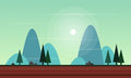 Beauty landscape for game background
