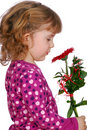 Beauty little girl with flower Royalty Free Stock Photo