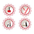 Beauty and makeup icons for your design Royalty Free Stock Photo