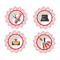 Beauty and makeup icons for your design Royalty Free Stock Photos