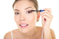 Beauty Makeup Woman Putting Ma...